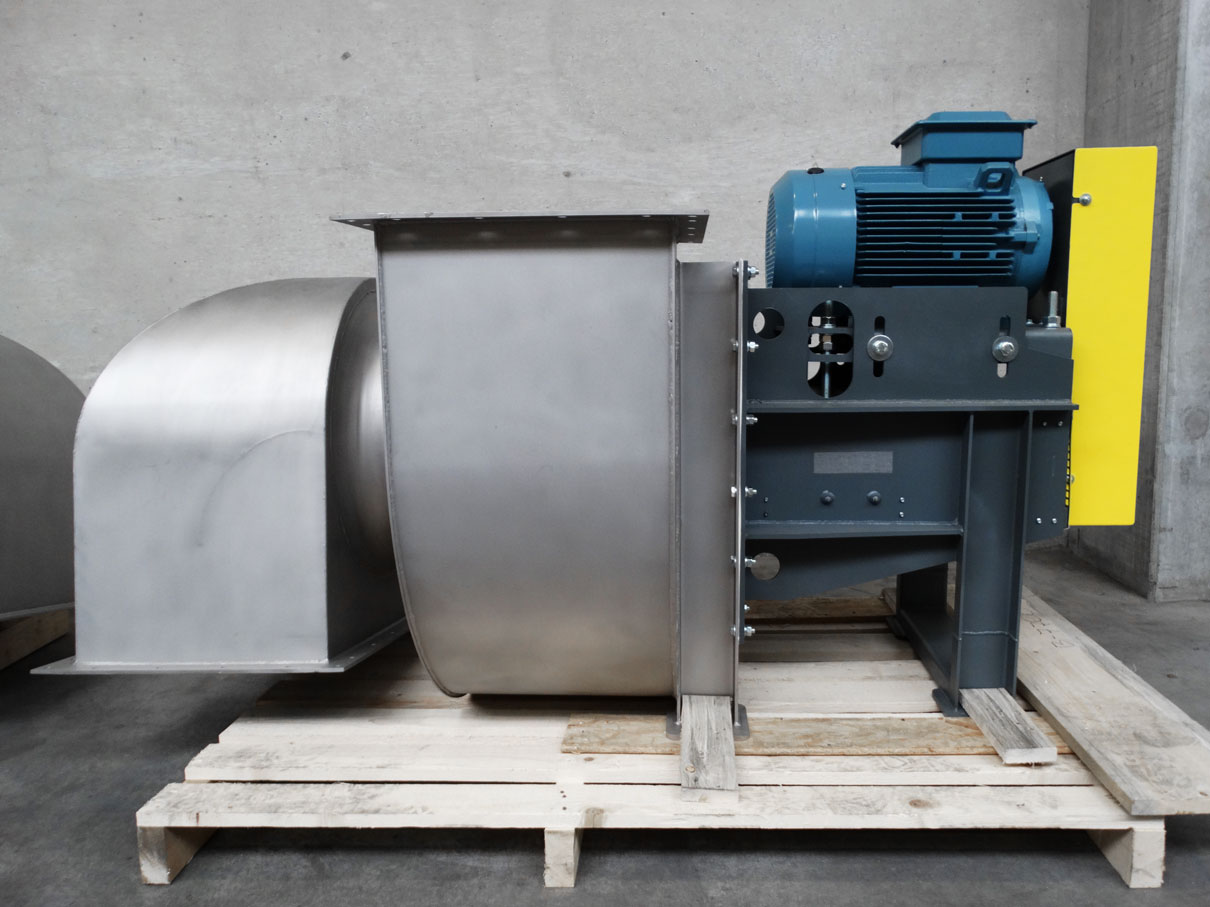 Duplex centrifugal fan for high temperatures, Almeco