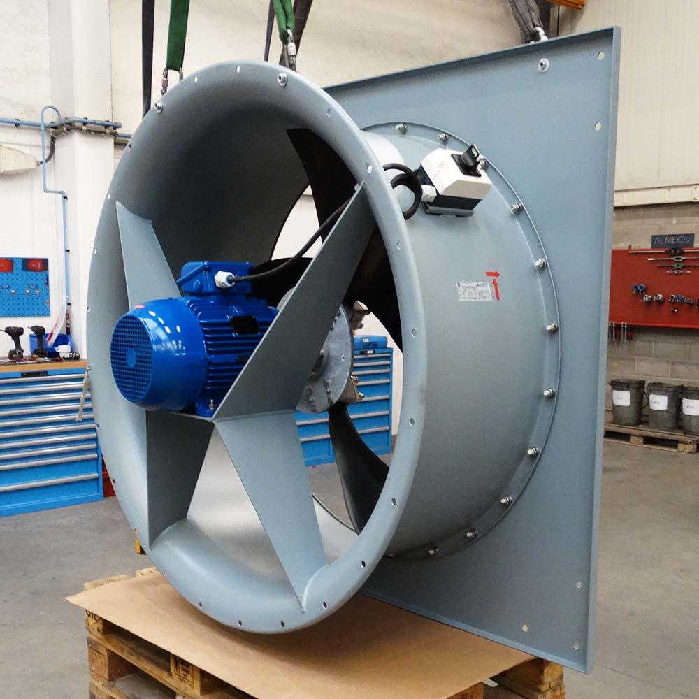 Low noise axial wall fan, Almeco