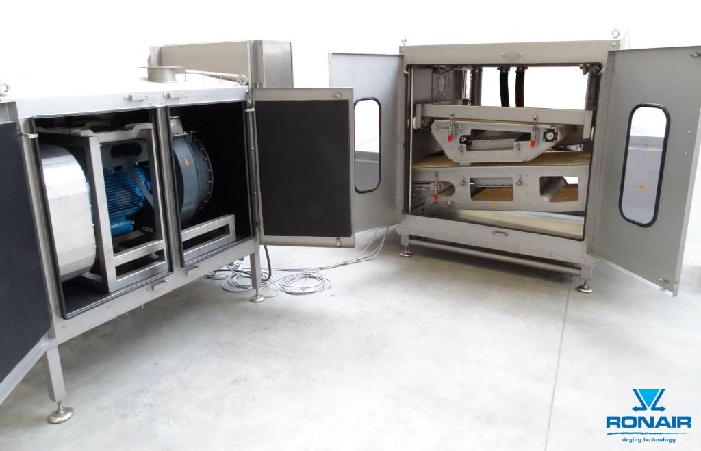 Ronair, drying unit, plastic containers, pâté