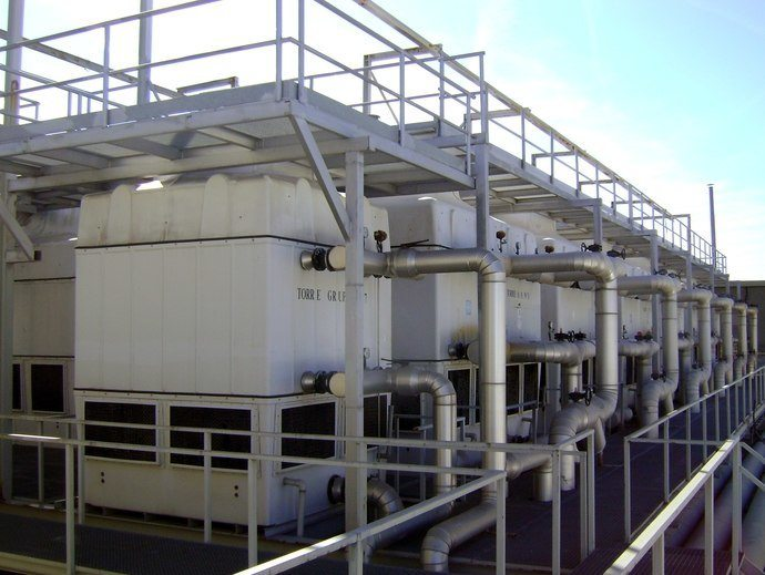 working cooling tower