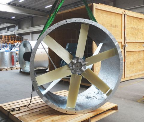 Almeco, ADK fans for wind tunnel