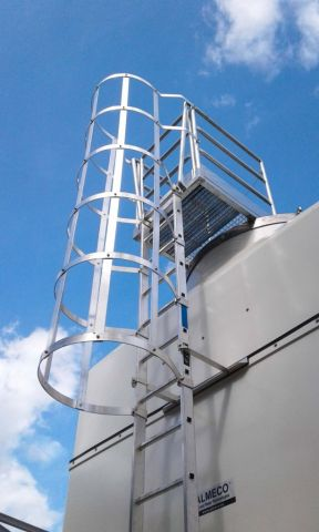 Almeco, cooling tower with ladder and platform