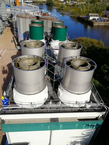 Noise dampers cooling towers, Almeco