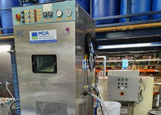 Pilot installation vacuum evaporator